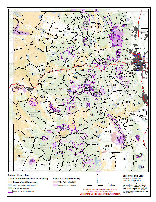 Statewide Elk Hunting Maps Start My Hunt - Maps of colorado