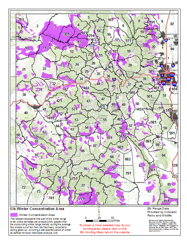 Statewide Elk Hunting Maps Start My Hunt - Colorado hunting zone map
